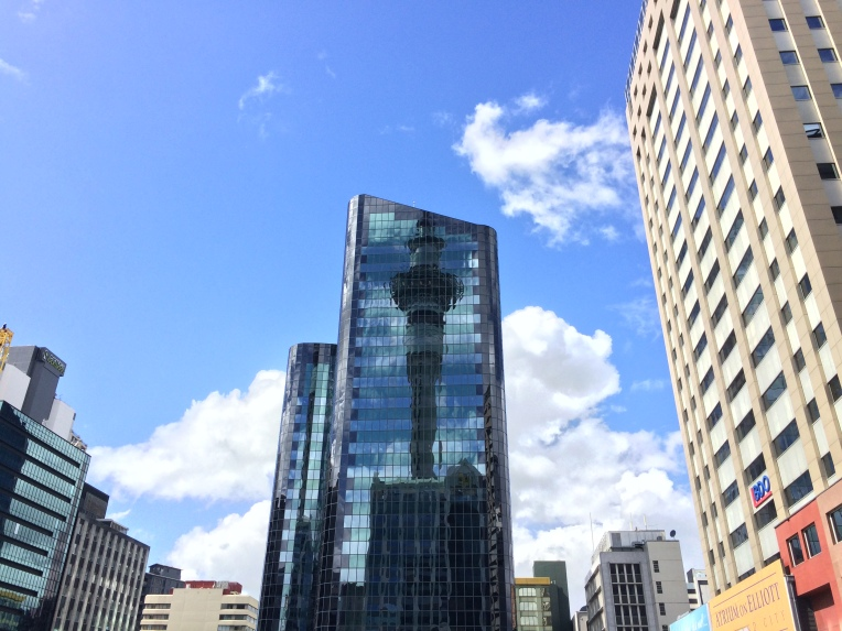 sky-tower-reflection