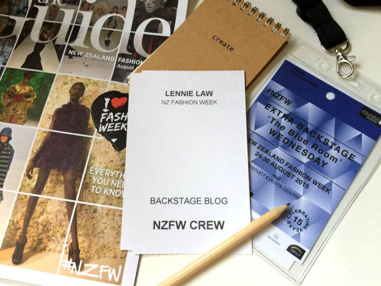 NZFW backstage blogger